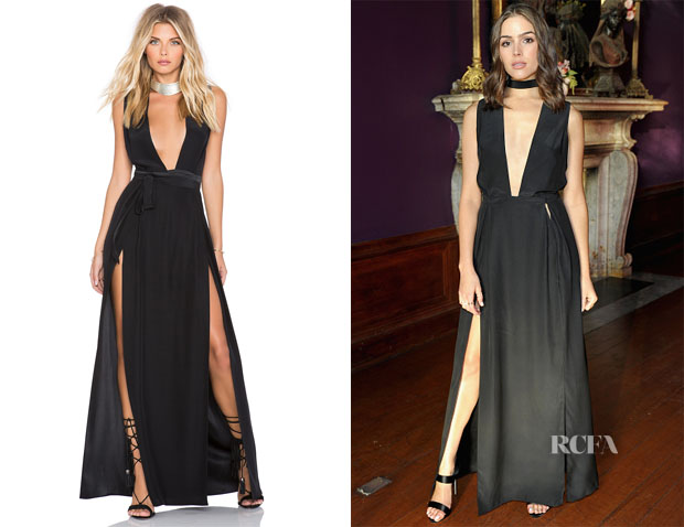 Olivia Culpo's Olcay Gulsen Double Slit Maxi Dress