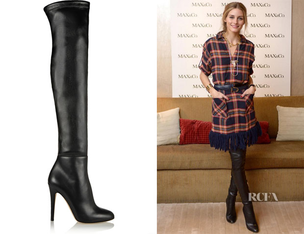 Olivia Palermo's Turner Stretch-Leather Thigh Boots