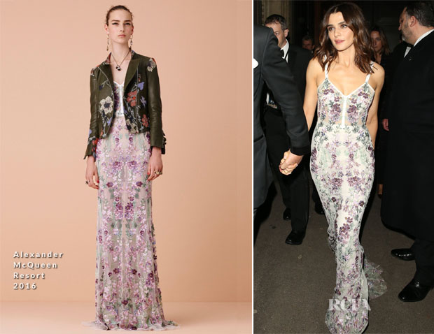 Rachel Weisz In Alexander McQueen - Spectre' London Premiere After-Party