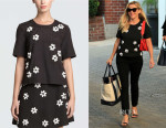 Reese Witherspoon's Draper James Collection Embellished Short Sleeve Shirt