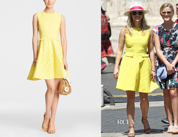 Reese Witherspoon's Draper James Eyelet Love Circle Dress