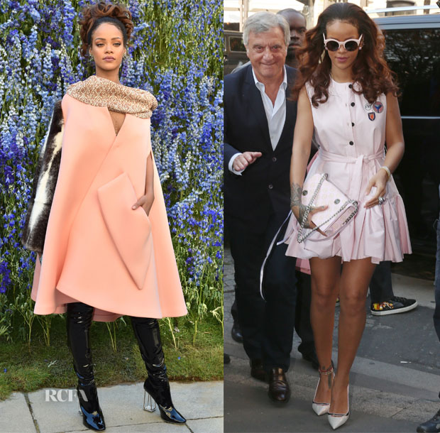 Rihanna In Christian Dior - Christian Dior Spring 2016 Front Row, Out In Paris & Vogue 95th Anniversary Party