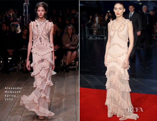 Rooney Mara In Alexander McQueen - 'Carol' London Film Festival Premiere