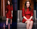 Rooney Mara In Dolce & Gabbana - Late Night with Seth Meyers