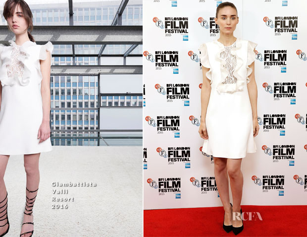 Rooney Mara In Giambattista Valli - 'Carol' London Film Festival Photocall