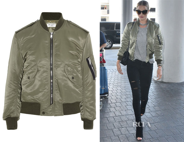 Rosie Huntington-Whiteley's Saint Laurent Shell bomber jacket