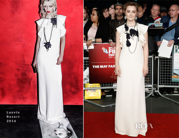 Saoirse Ronan In Lanvin - 'Brooklyn' London Film Festival Screening
