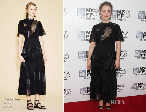 Saoirse Ronan In Valentino - 'Brooklyn' New York Film Festival Premiere
