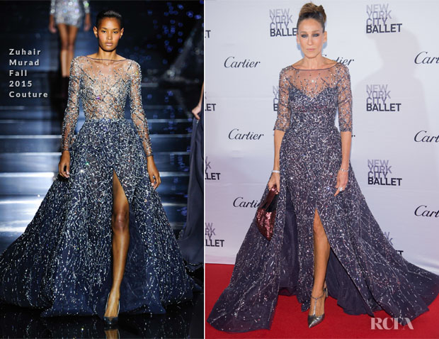 Sarah Jessica Parker In Zuhair Murad Couture - 2015 New York City Ballet Fall Gala