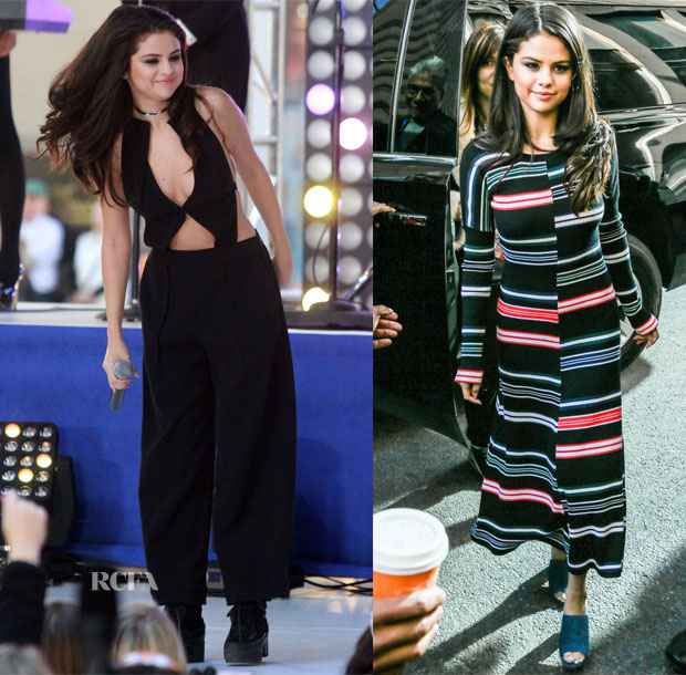 Selena Gomez In Roland Mouret & Kenzo - The Today Show & Sirius XM Studios