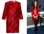 Selena Gomez' Preen Arcade sequin-embellished mini dress