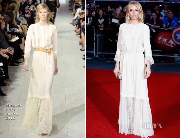 Sienna Miller In Michael Kors - 'High-Rise' London Film Festival Screening