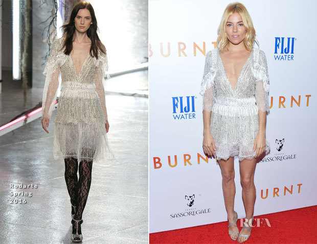 Sienna Miller In Rodarte - 'Burnt' New York Premiere