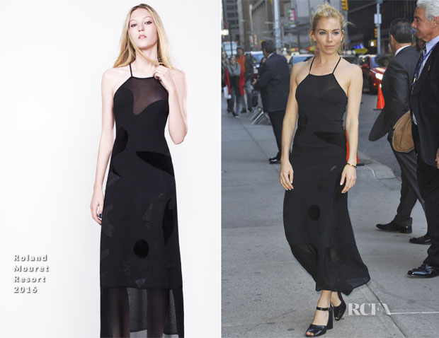Sienna Miller In Roland Mouret - The Late Show with Stephen Colbert