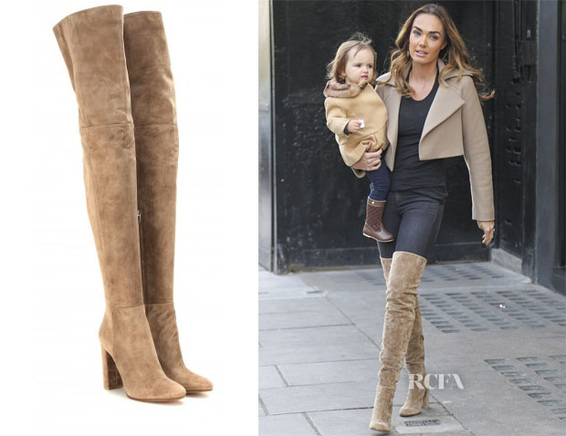 Tamara Ecclestone's Gianvito Rossi Suede over-the-knee boots