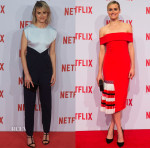 Taylor Schilling In Vionnet & Sachin & Babi Noir - Netflix Madrid & Milan Launch Presentations