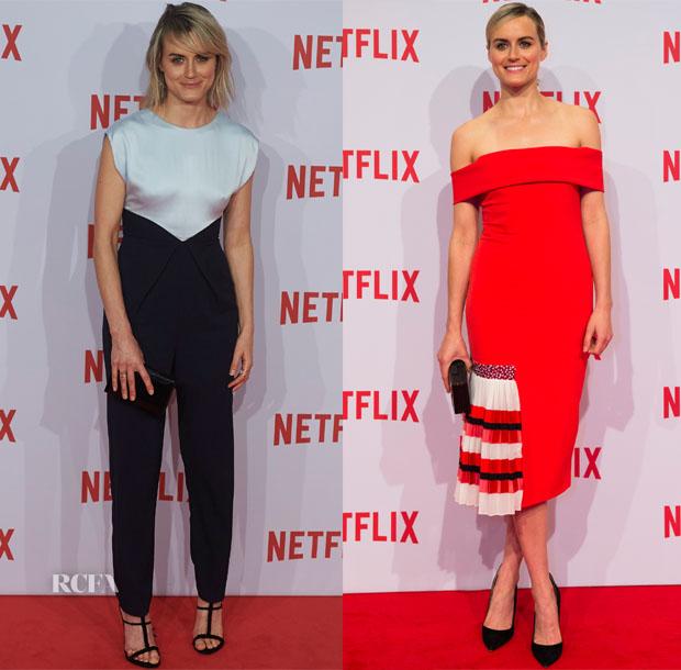 Taylor Schilling In Vionnet & Sachin & Babi Noir - Netflix Milan Launch Presentation