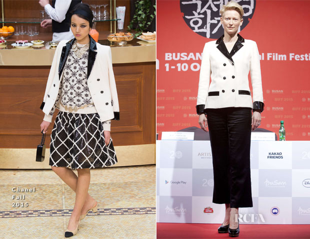 Tilda Swinton In Chanel - 'A Bigger Splash' Busan International Film Festival Press Conference