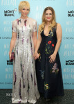 Toni Collette In Escada & Drew Barrymore In Stella McCartney - 'Miss You Already' New York Screening