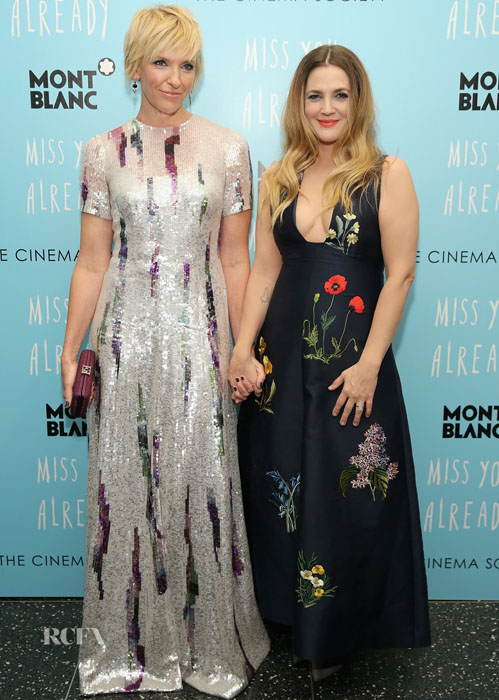 "NEW YORK, NY - OCTOBER 25: Actors Toni Collette (L) and Drew Barrymore attend the Montblanc & The Cinema Society screening of Roadside Attractions & Lionsgate's ""Miss You Already"" at Museum of Modern Art on October 25, 2015 in New York City. (Photo by Neilson Barnard/Getty Images)"