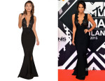 Vicky Pattison's House of CB Balere Black Bandage and Lace Maxi Dress