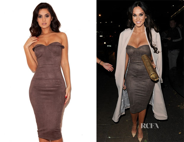 vicky pattison 39 s house of cb pia suedette strapless body. Black Bedroom Furniture Sets. Home Design Ideas