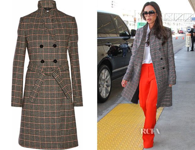 Victoria Beckham's Victoria Beckham Double-breasted checked wool coat