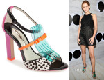 Zoey Deutch's Sophia Webster Verity Polka Sandals