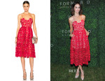 Abigail Spencer's Self Portrait Azaelea Midi Dress