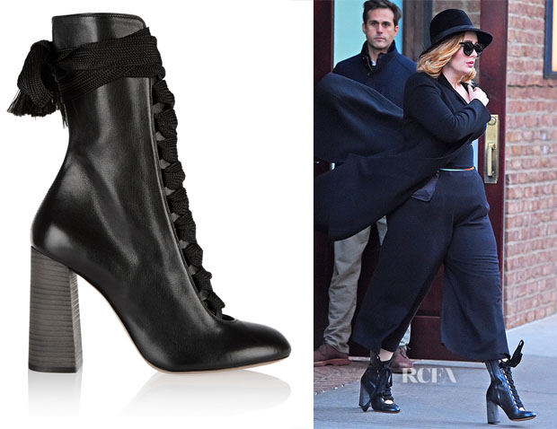 Chloé Leather Lace Up Boots s6YsvJfu