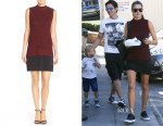 Alessandra Ambrosio's French Connection Mixed Media Tiered Shift Dress