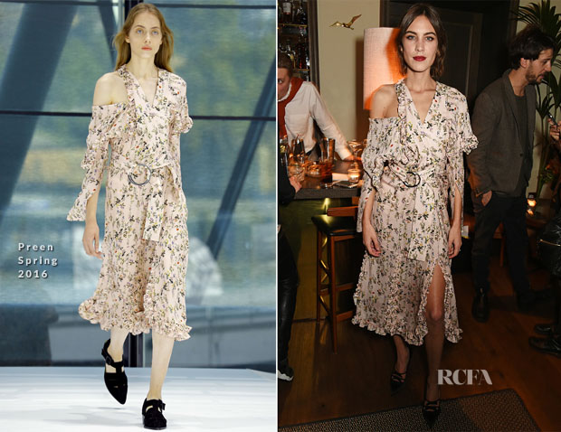 Alexa Chung In Preen - Villoid x Elle Dinner
