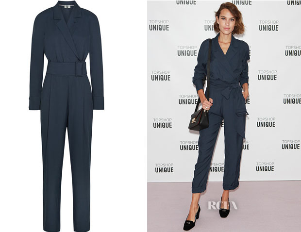 Alexa Chung's Topshop Unique Coterill twill jumpsuit