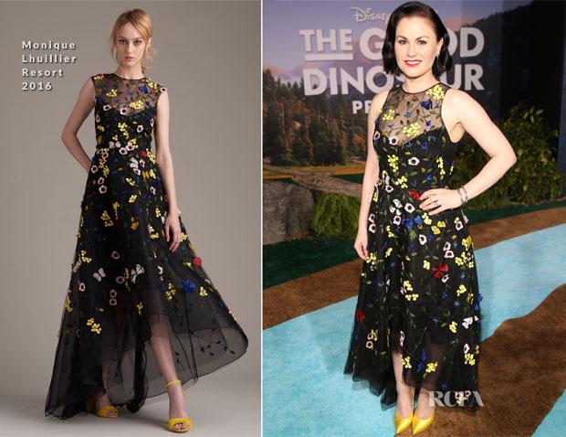 Anna Paquin In Monique Lhuillier - 'The Good Dinosaur' LA Premiere