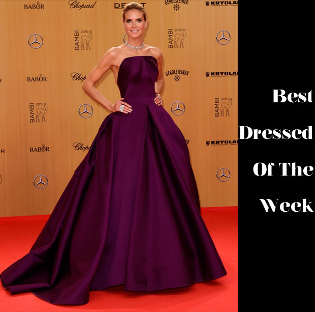 Best Dressed Of The Week - Heidi Klum In Zac Posen