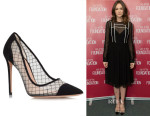 Carey Mulligan's Kurt Geiger London Sharkie Black Pumps