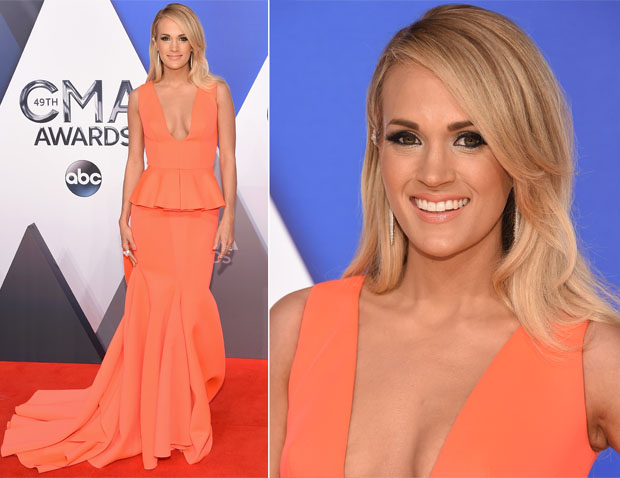 Carrie Underwood In Gauri & Nainika - 2015 CMA Awards