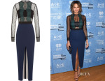 Chrissy Teigen's Self-Portrait Lace & Mesh Pencil Dress