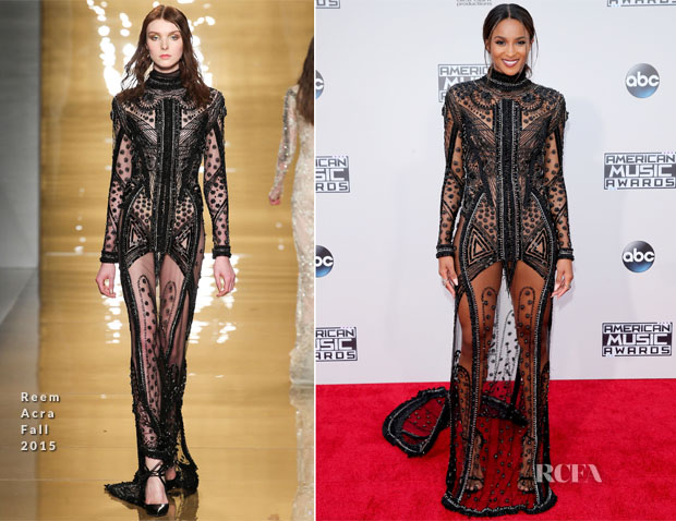 Ciara In Reem Acra - 2015 American Music Awards