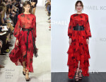 Dakota Johnson In Michael Kors - Michael Kors Ginza Flagship Store Opening