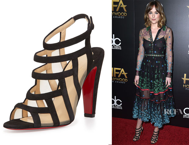 Dakota Johnson's Christian Louboutin Nicobar Caged Red Sole Sandals