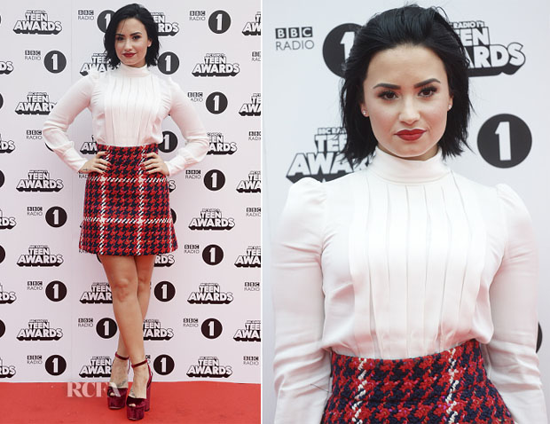 Demi Lovato In Miu Miu - BBC Radio 1 Teen Awards