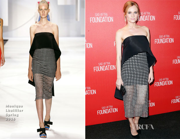 Diane Kruger In Monique Lhuillier - Screen Actors Guild Foundation 30th Anniversary Celebration