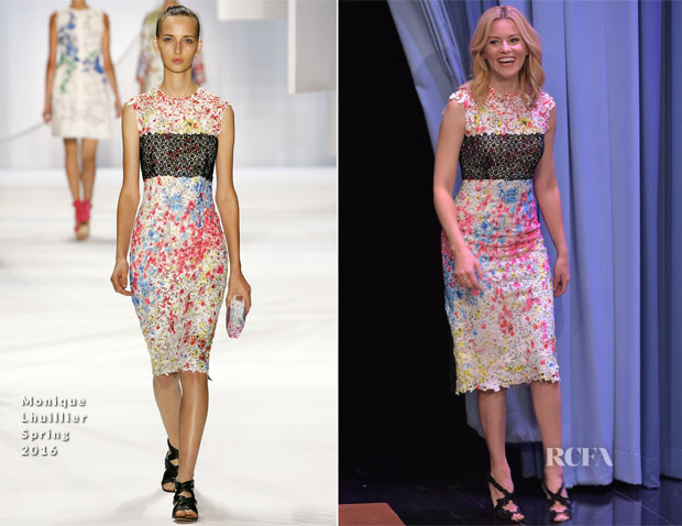 Elizabeth Banks In Monique Lhuillier - The Tonight Show Starring Jimmy Fallon