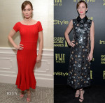 Emily Blunt In Jonathan Simkhai &  Marc Jacobs - 'Sicario' Luncheon & HFPA And InStyle Celebrate The 2016 Golden Globe Award Season