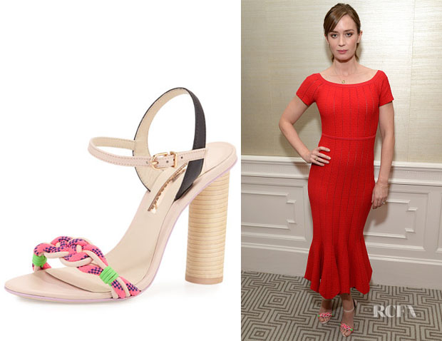Emily Blunt's Sophia Webster Atlanta Pink Sandals