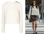 Emmy Rossum's Topshop  Shrunken Cable Knit Sweater