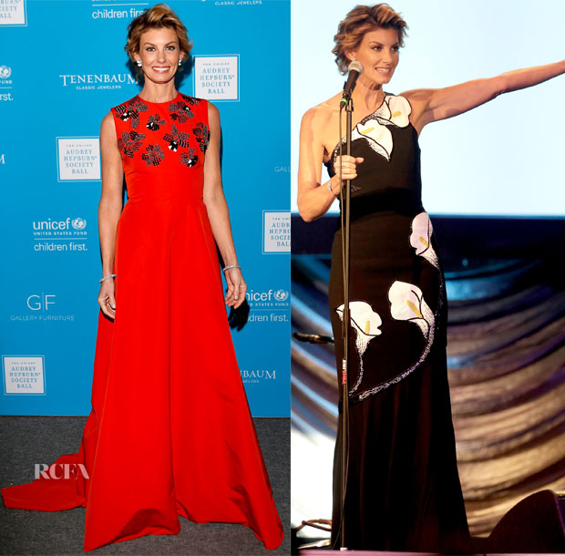 Faith Hill In Lela Rose & Andrew Gn - 3rd Annual UNICEF Audrey Hepburn Society Ball