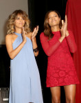 Halle Berry in Halston Heritage and Naomie Harris in Burberry