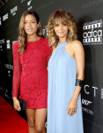 Naomie Harris in Burberry and Halle Berry in Halston Heritage